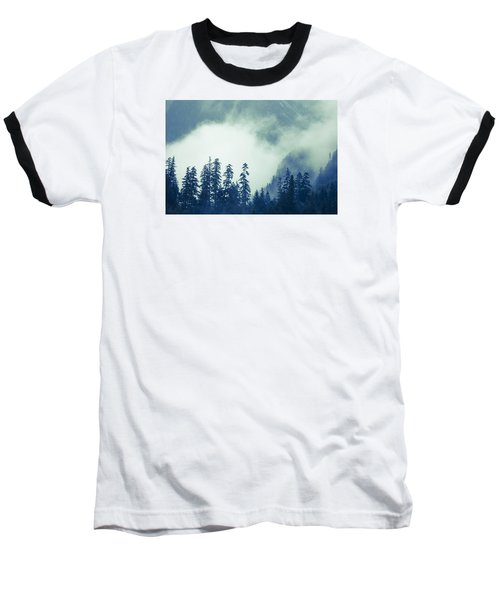 Mountains And Fog Baseball T-Shirt by Michele Cornelius