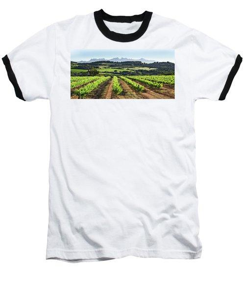Mountains Of Montserrat Catalunya Baseball T-Shirt by Gina Dsgn
