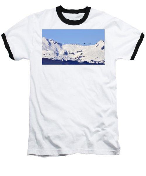 Mountaintop Geese Baseball T-Shirt