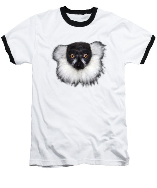 Mr Lemur On Transparent Background Baseball T-Shirt by Terri Waters