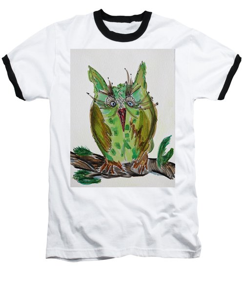 Mr.lime Owl Baseball T-Shirt