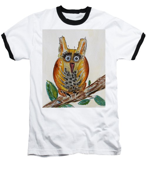 Mr.orange Owl Baseball T-Shirt