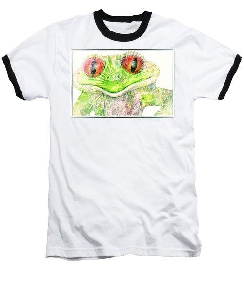 Mr Ribbit Baseball T-Shirt by Pamela Williams