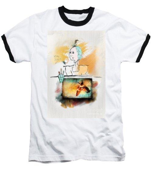 Mrs. Darwin's Theory Of Evolution Self Portrait  Baseball T-Shirt