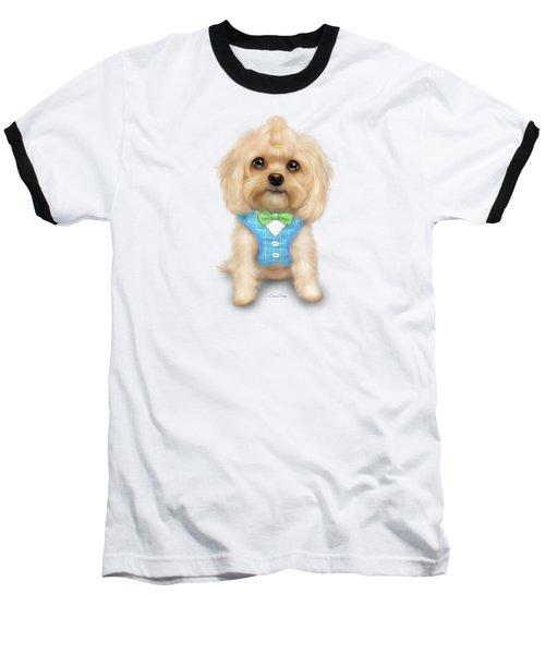 Mr.toby Waffles Baseball T-Shirt by Catia Cho