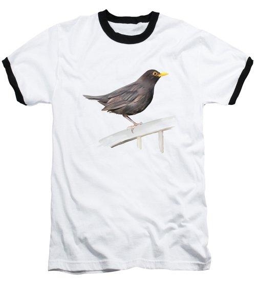 Baseball T-Shirt featuring the painting Ms. Blackbird Is Brown by Ivana Westin