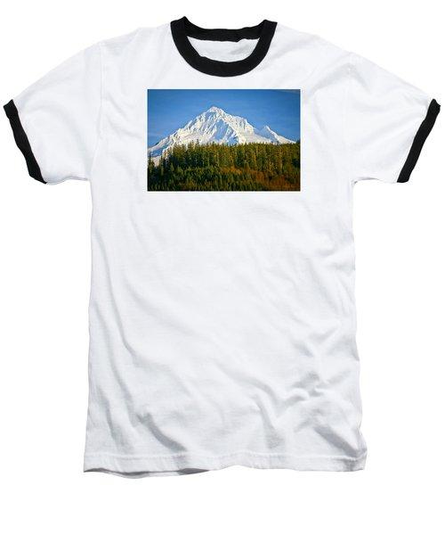 Mt Hood In Winter Baseball T-Shirt by Albert Seger