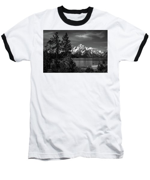 Mt. Moran And Trees Baseball T-Shirt