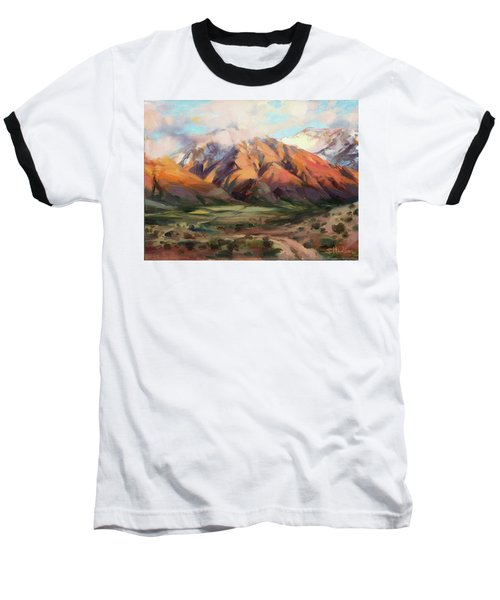 Baseball T-Shirt featuring the painting Mt Nebo Range by Steve Henderson