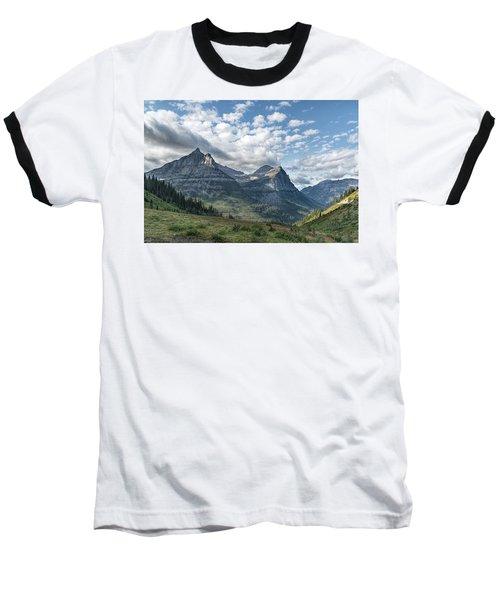 Mt. Oberlin From Logan Pass Baseball T-Shirt