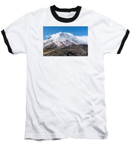 Mt Rainier In The Clouds Baseball T-Shirt