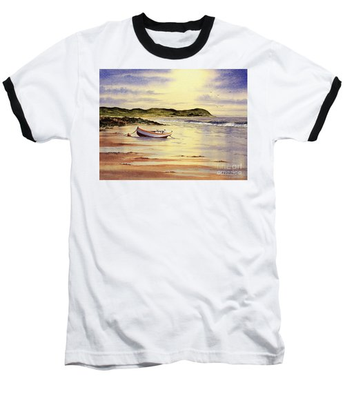 Baseball T-Shirt featuring the painting Mull Of Kintyre Scotland by Bill Holkham