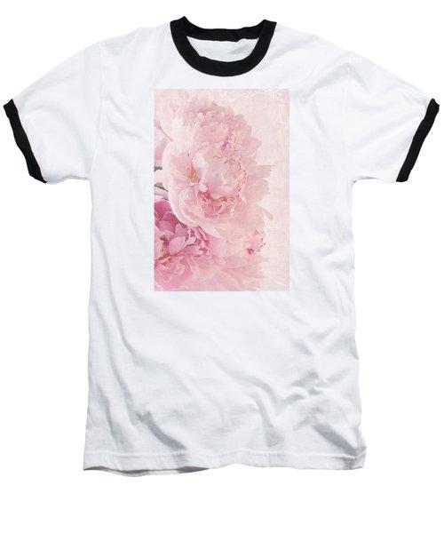 Artsy Pink Peonies Baseball T-Shirt
