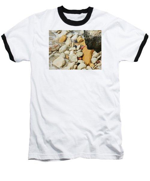 multi colored Beach rocks Baseball T-Shirt