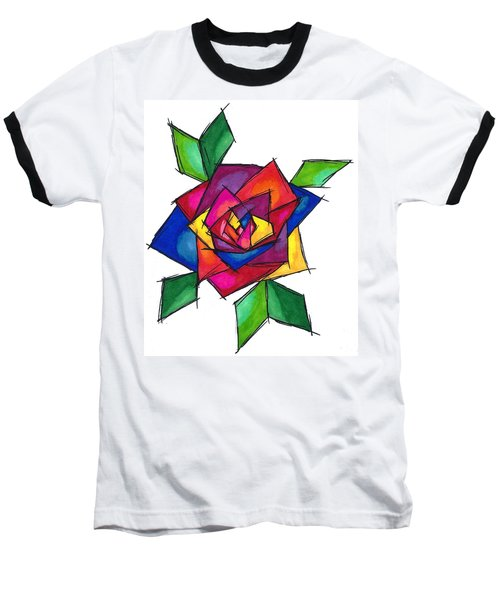 Multi Rose Baseball T-Shirt