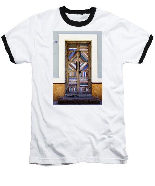 Multicolored Door Baseball T-Shirt