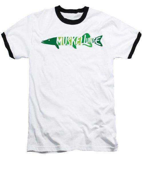 Multicolored Muskellunge Baseball T-Shirt
