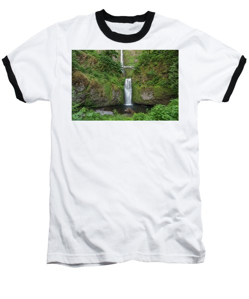 Baseball T-Shirt featuring the photograph Multnomah Falls In Spring by Greg Nyquist