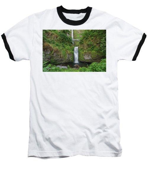 Multnomah Falls In Spring Baseball T-Shirt by Greg Nyquist
