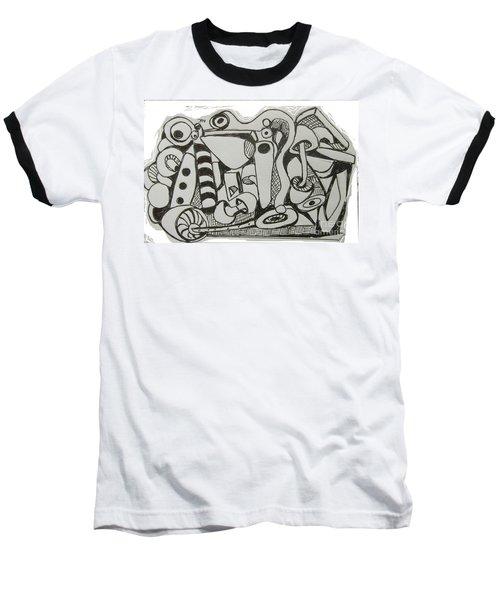 Mushroom Powered Engine 004 - Bellingham - Lewisham Baseball T-Shirt by Mudiama Kammoh