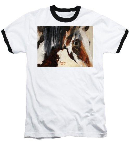 Mustang In My Heart Baseball T-Shirt by Barbie Batson