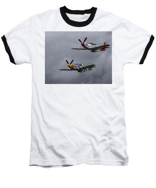 Baseball T-Shirt featuring the photograph Mustangs by Elvira Butler