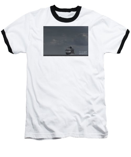 Mv Britannia Baseball T-Shirt by David  Hollingworth