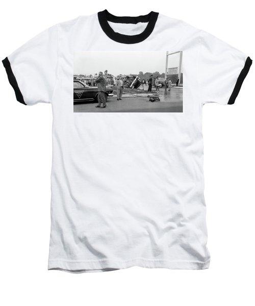 Mva At Shopping Center Baseball T-Shirt by Paul Seymour