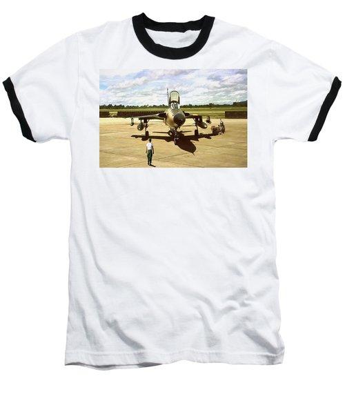My Baby F-105 Baseball T-Shirt by Peter Chilelli