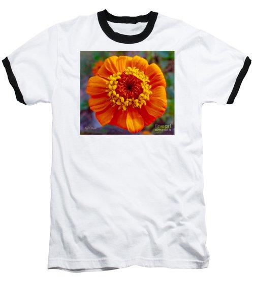 My Bit Of Orange Zinnia Heaven Baseball T-Shirt