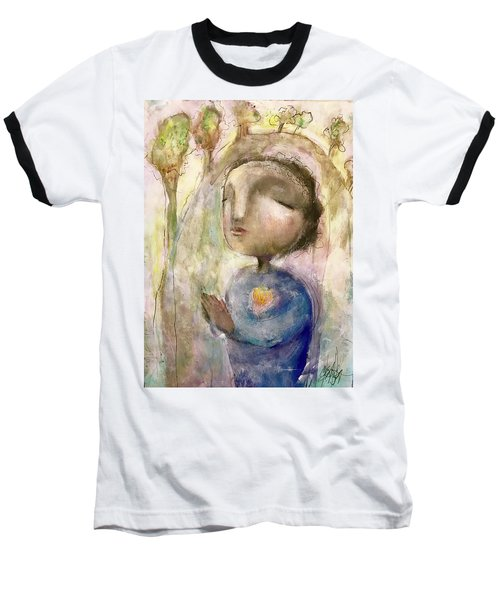 Baseball T-Shirt featuring the mixed media My Faith by Eleatta Diver