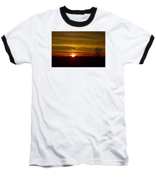 My First 2016 Sunset Photo Baseball T-Shirt by Dacia Doroff