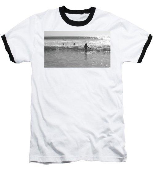My Fist Time In The Sea Baseball T-Shirt by Beto Machado