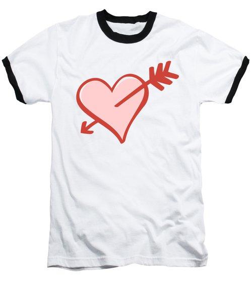 My Heart Baseball T-Shirt by Alice Gipson