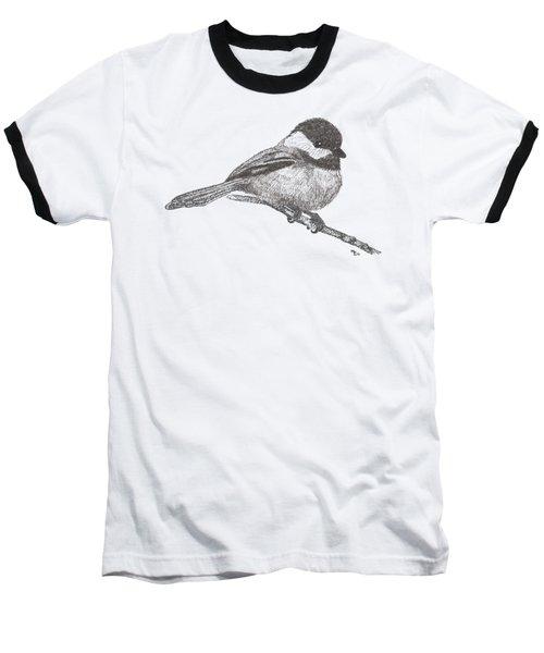 My Little Chickadee-dee-dee Baseball T-Shirt by Mary-Ellen Arsenault