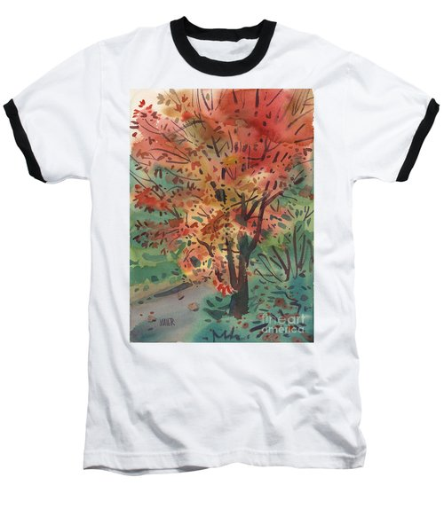 My Maple Tree Baseball T-Shirt by Donald Maier