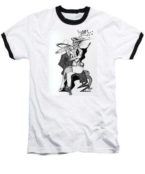 My Shadow And I Baseball T-Shirt by Yelena Tylkina