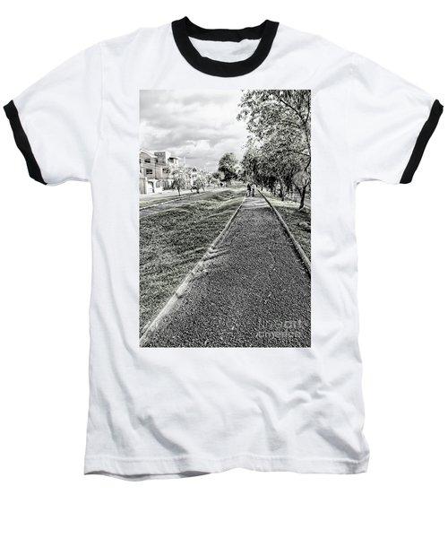 Baseball T-Shirt featuring the photograph My Street II by Al Bourassa