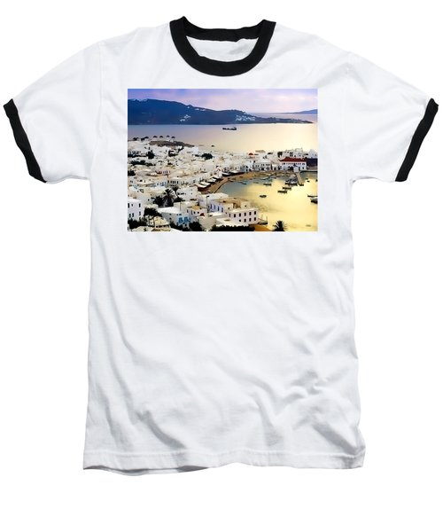 Mykonos Greece Baseball T-Shirt