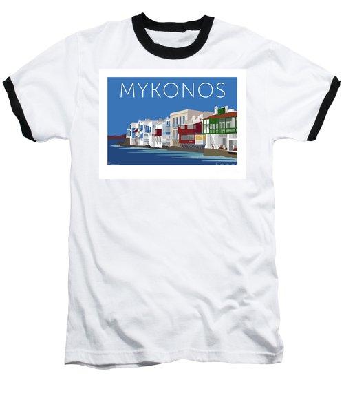 Mykonos Little Venice - Blue Baseball T-Shirt