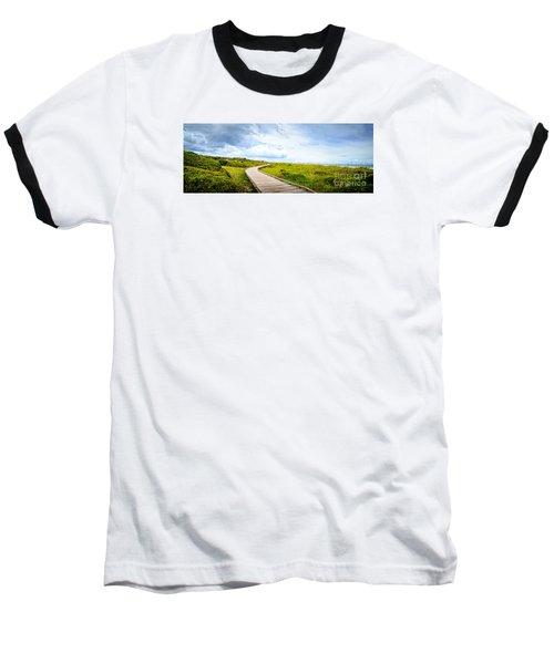 Myrtle Beach State Park Boardwalk Baseball T-Shirt by David Smith