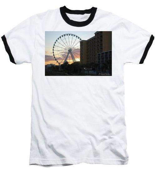Myrtle Beach Sunset 2 Baseball T-Shirt