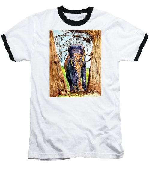 Baseball T-Shirt featuring the painting Mysore by Maria Barry
