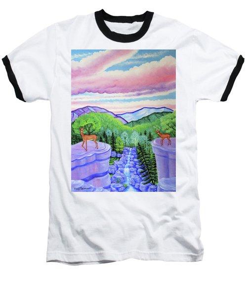 Mystic Mountain Baseball T-Shirt by Tracy Dennison