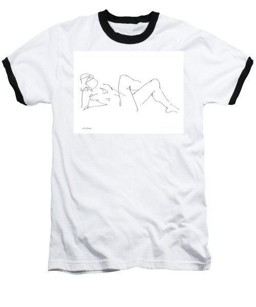 Naked-male-drawing-14 Baseball T-Shirt