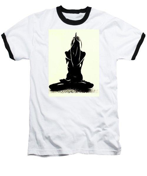 Namaste Baseball T-Shirt by Susan Duda