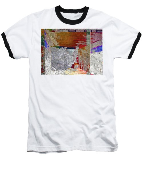 Baseball T-Shirt featuring the mixed media Name This Piece by Tony Rubino