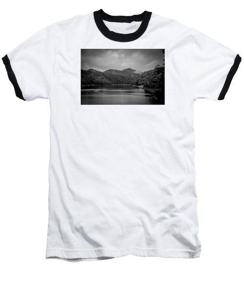 Nantahala River Great Smoky Mountains In Black And White Baseball T-Shirt