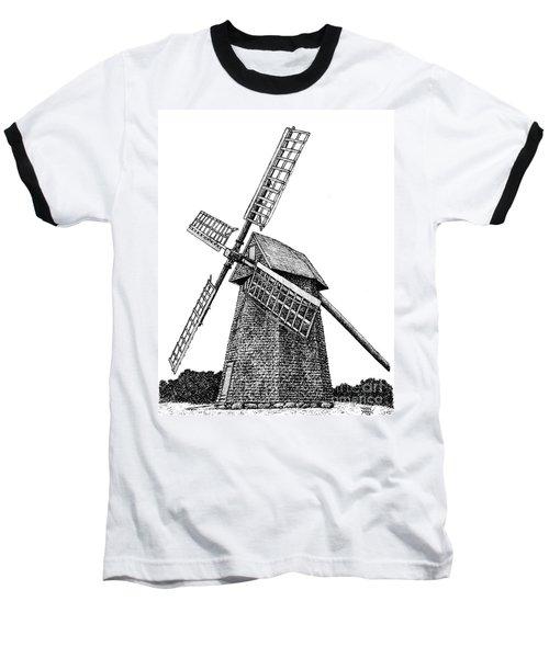 Nantucket Windmill Number One Baseball T-Shirt