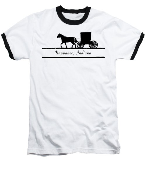 Nappanee Horse And Buggy Baseball T-Shirt
